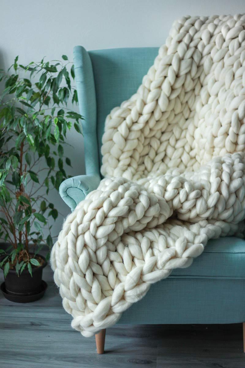 Hrubá pletená deka