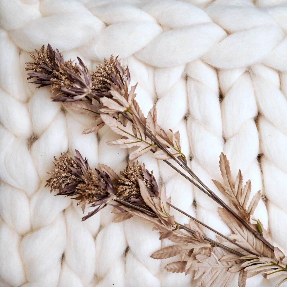 Heboučká vlněná deka bílá